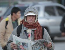 Abrigarse es la recomendación de los meteorólogos del Insivumeh. (Foto Prensa Libre: Hemeroteca PL)