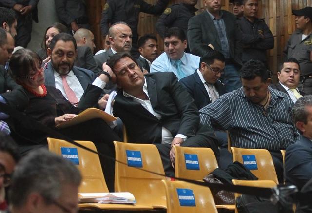 Gustavo Alejos durante una de las audiencias del caso Cooptación del Estado. (Foto Prensa Libre: Hemeroteca PL)