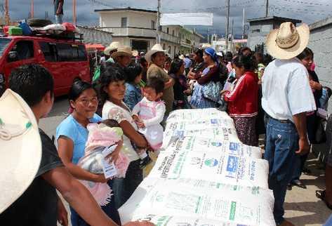 Ocho mil  familias fueron beneficiadas el año pasado con la entrega de harina fortificada para la elaboración de la supertortilla, en un programa del Maga.