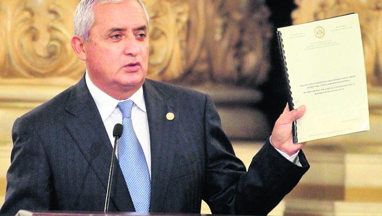 La corrupción minó la credibilidad del presidente Otto Pérez Molina que enfrenta una crisis política. (Foto Prensa Libre: Hemeroteca PL)