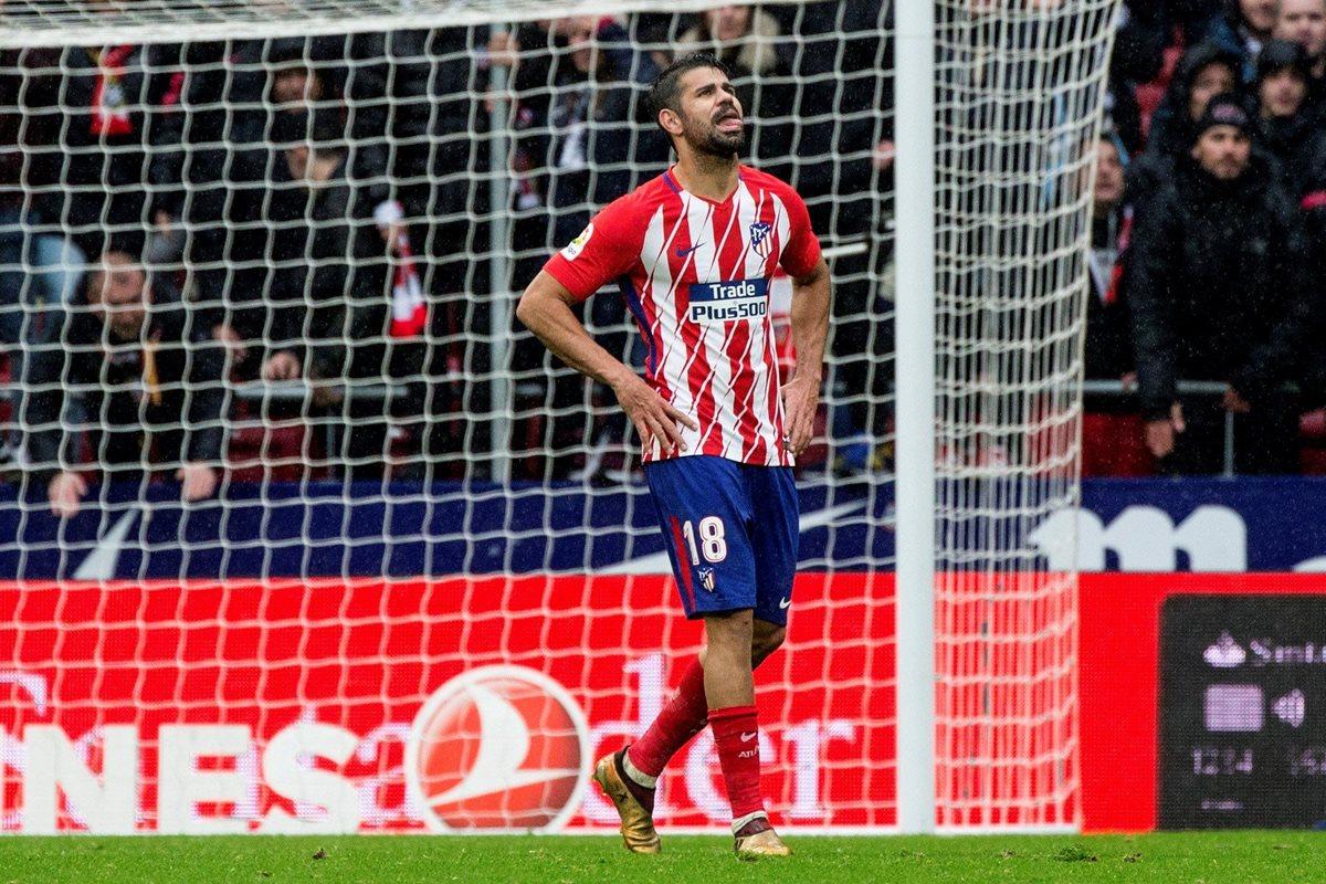 Diego Costa redebuta en Liga con el Atlético de Madrid ¡con gol y expulsión!
