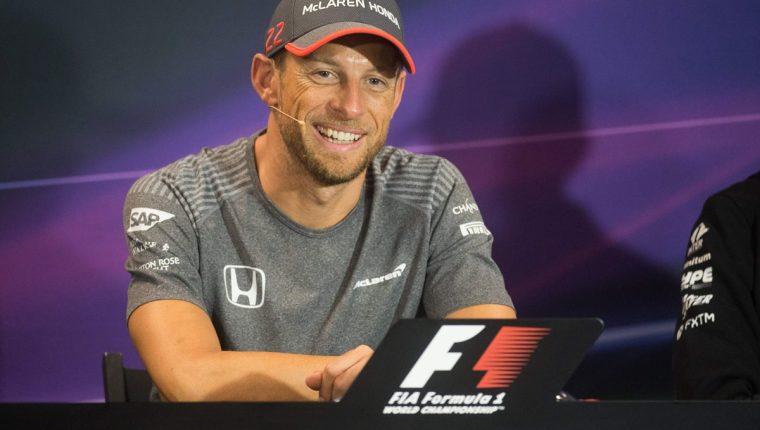Jenson Button de McLaren durante la conferencia de prensa del GP de Mónaco. (Foto Prensa Libre: AFP)