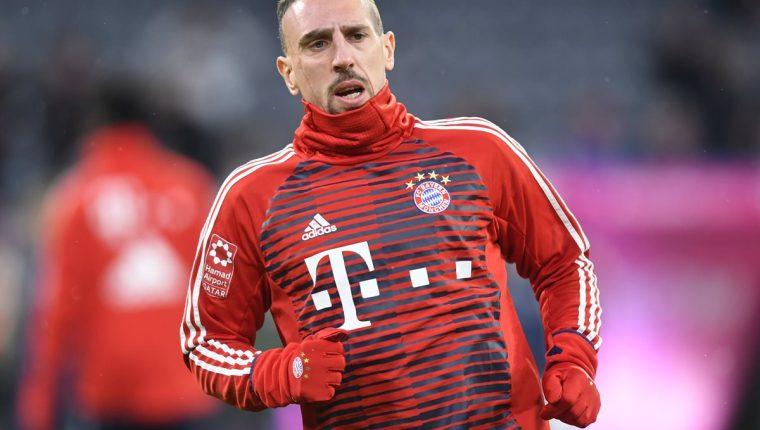 Franck Ribéry espera jugar dos años más con el FC Bayern Múnich. (Foto Prensa Libre: AFP)