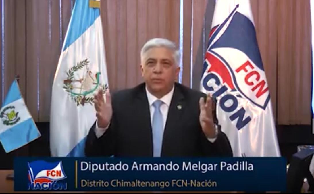 Diputado Armando Melgar Padilla denuncia presiones del MP y Cicig