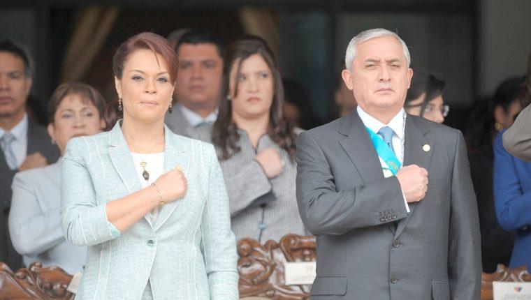 Roxana Baldetti y Otto Pérez Molina, eran los líderes de una estructura que cooptó el Estado y los enriqueció de forma ilícita. (Foto Prensa Libre: Hemeroteca PL)