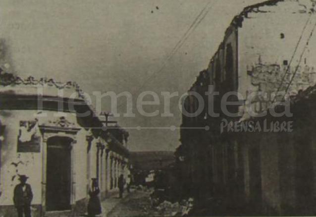 Vista de la calle Real del Calvario. (Foto: el Quetzalteco)