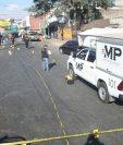 Ministerio Público investiga el hecho de violencia ocurrido en el Mercado de la Terminal. (Foto Prensa Libre: Álvaro Interiano)