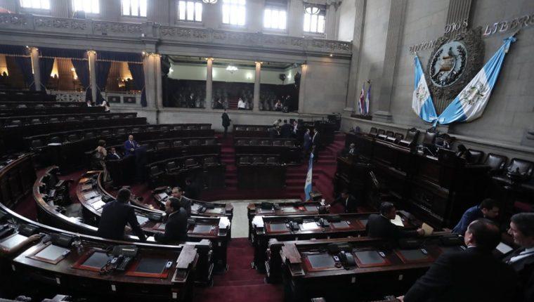La sesión plenaria que estaba programada para este miércoles no se realizó debido a la falta de consensos. (Foto Prensa Libre: Juan Diego González)