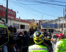 El ataque ocurrió contra una subestación de la PNC en la zona 6 de Mixco. (Foto Prensa Libre: Cortesía)