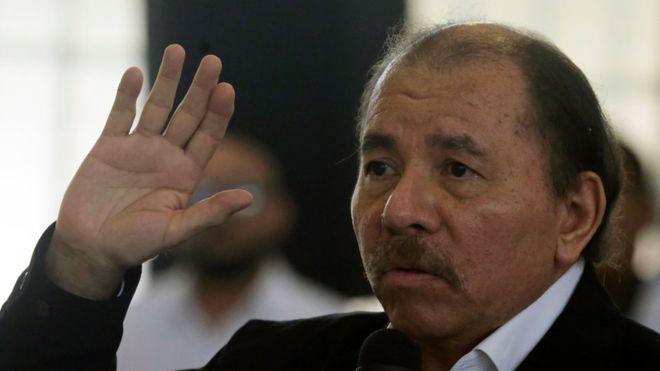 El presidente Daniel Ortega respondió a los reclamos de líderes de manifestantes que han protestado contra su gobierno. AFP