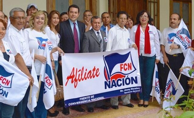 El partido FCN-Nación tiene abierto un proceso de cancelación por financiamiento electoral ilícito. (Foto Prensa Libre: Hemeroteca PL)