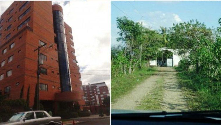 Propiedades en el interior y en la capital son inmovilizadas por indicios de adquisiciones ilícitas. (Foto Prensa Libre: MP)