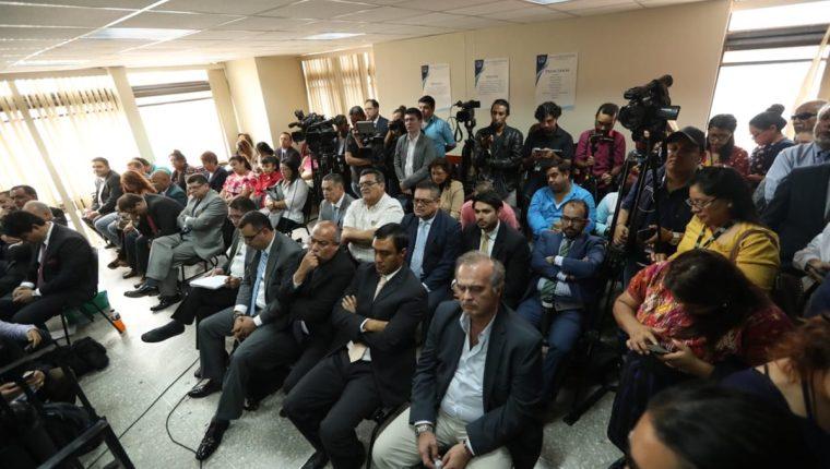 Los implicados en el caso IGSS-Pisa-Chiquimula escucharon la condena mínima y absolutoria. (Foto Prensa Libre: Esbin García)