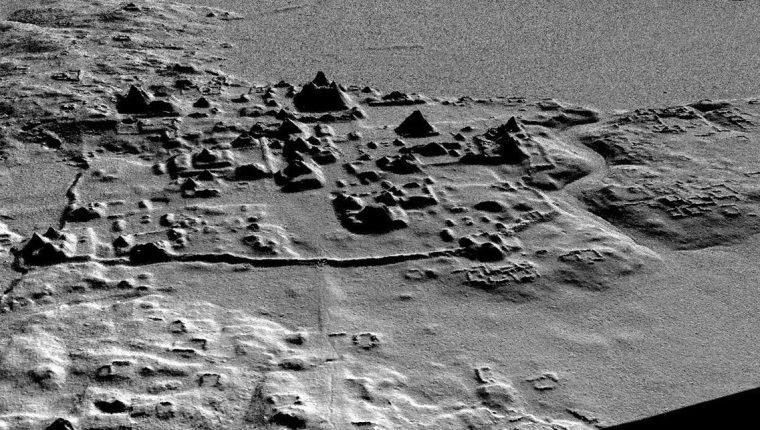 Cuenca Mirador, tomada a través de un radar de alta precisión en El Mirador. (Foto Prensa Libre: EFE)
