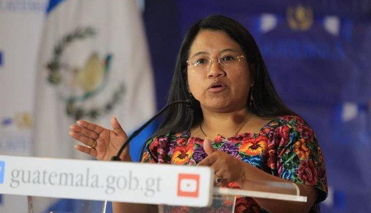 Ministra de Trabajo, Aura Teleguario, confirmó su salida de la cartera. (Foto Prensa Libre: Hemeroteca PL)