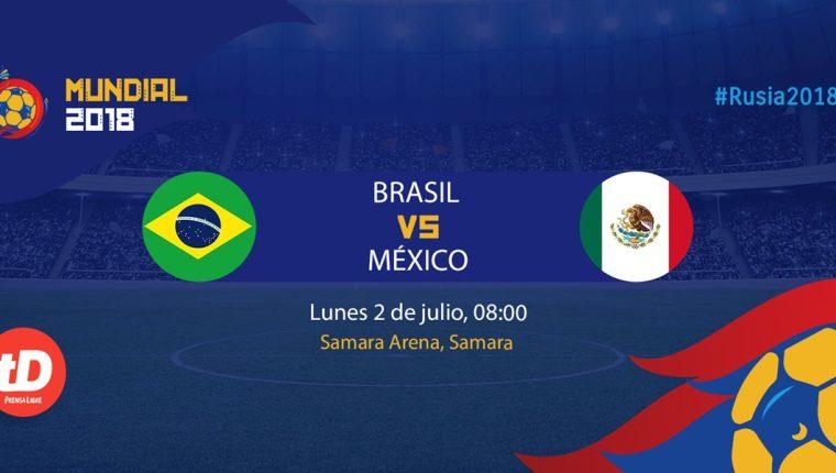 Brasil y México sostendrán uno de los duelos más esperados de la Copa del Mundo 2018. (Foto Prensa Libre: TodoDeportes)