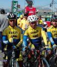 Los ciclistas están listos para disputar la sexta etapa de la 56 Vuelta a Guatemala. (Foto Prensa Libre: Carlos Vicente)