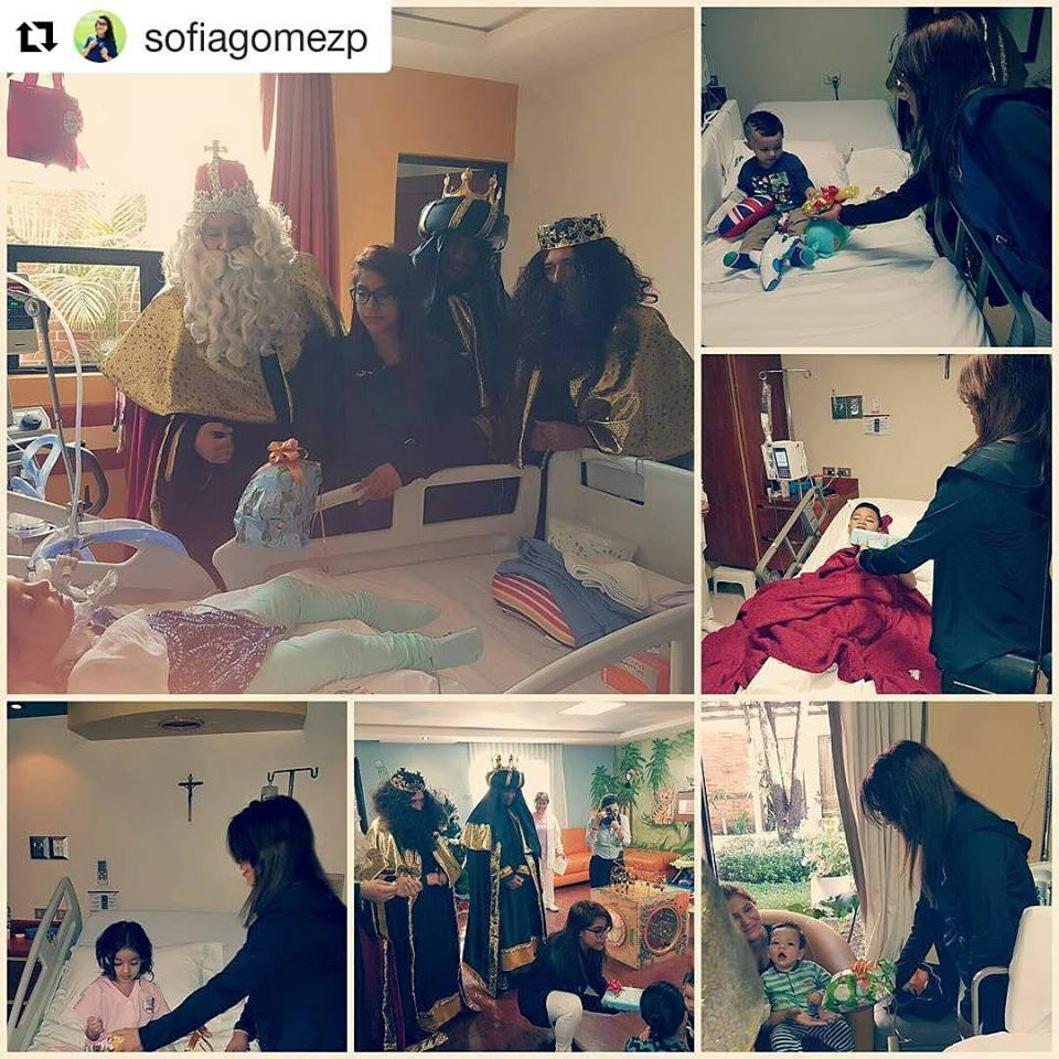 Sofía Gómez reparte alegría en el día de Reyes