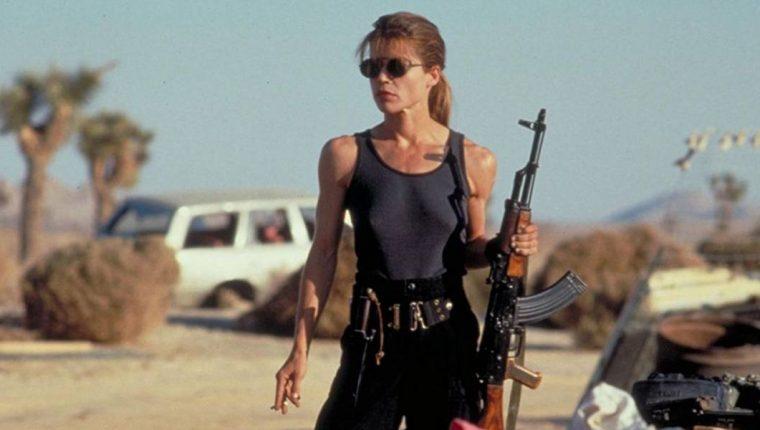 Linda Hamilton como Sarah Connor en la segunda película de Terminator (Foto Prensa Libre: Carolco Pictures/Lightstorm Entertainment).