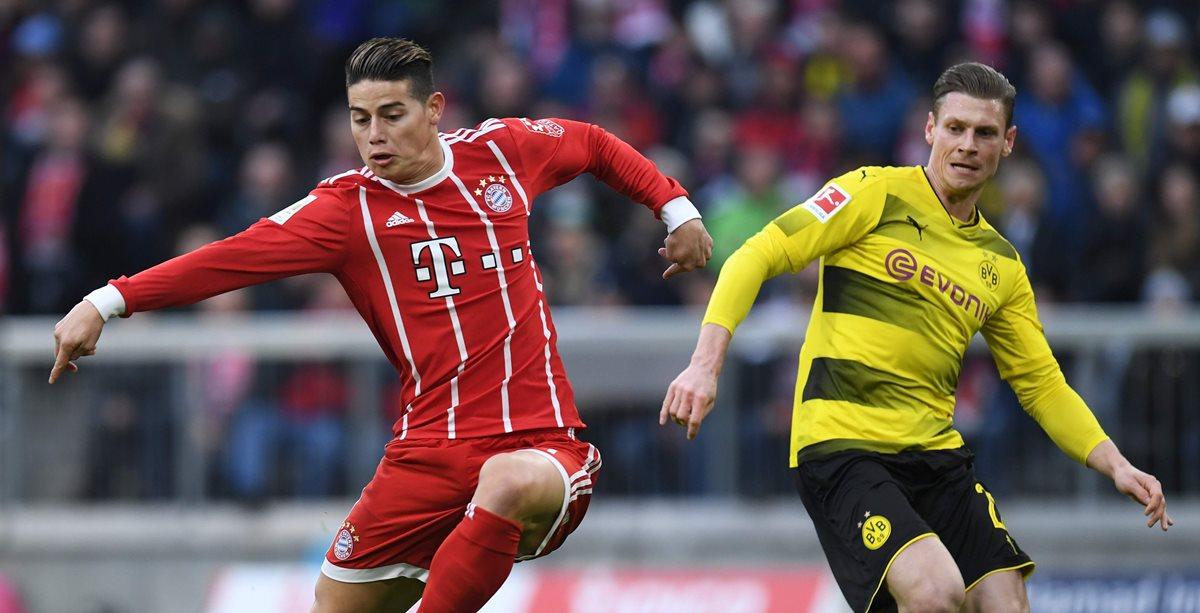 James Rodríguez está alcanzando su mejor nivel con el Bayern Múnich. (Foto Prensa Libre: AFP)