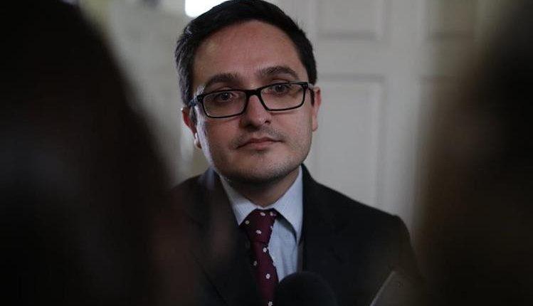 Jefe de la Feci, Juan Francisco Sandoval, se pronuncia ante la comisión que creó el Congreso de la República. (Foto Prensa Libre: Archivo)