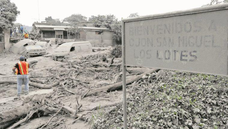 Los daños de la erupción del Volcán de Fuego persisten, por lo que extiende el Estado de Calamidad Pública en Escuintla, Sacatepéquez y Chimaltenango. (Foto Prensa Libre: Hemeroteca PL)