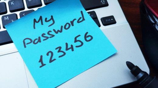 """""""123456"""" es una de las contraseñas menos seguras (y más populares) desde hace años. GETTY IMAGES"""