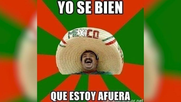 Los memes ironizan con la eliminación de la selección de México en Rusia 2018. (Foto Prensa Libre: Redes)