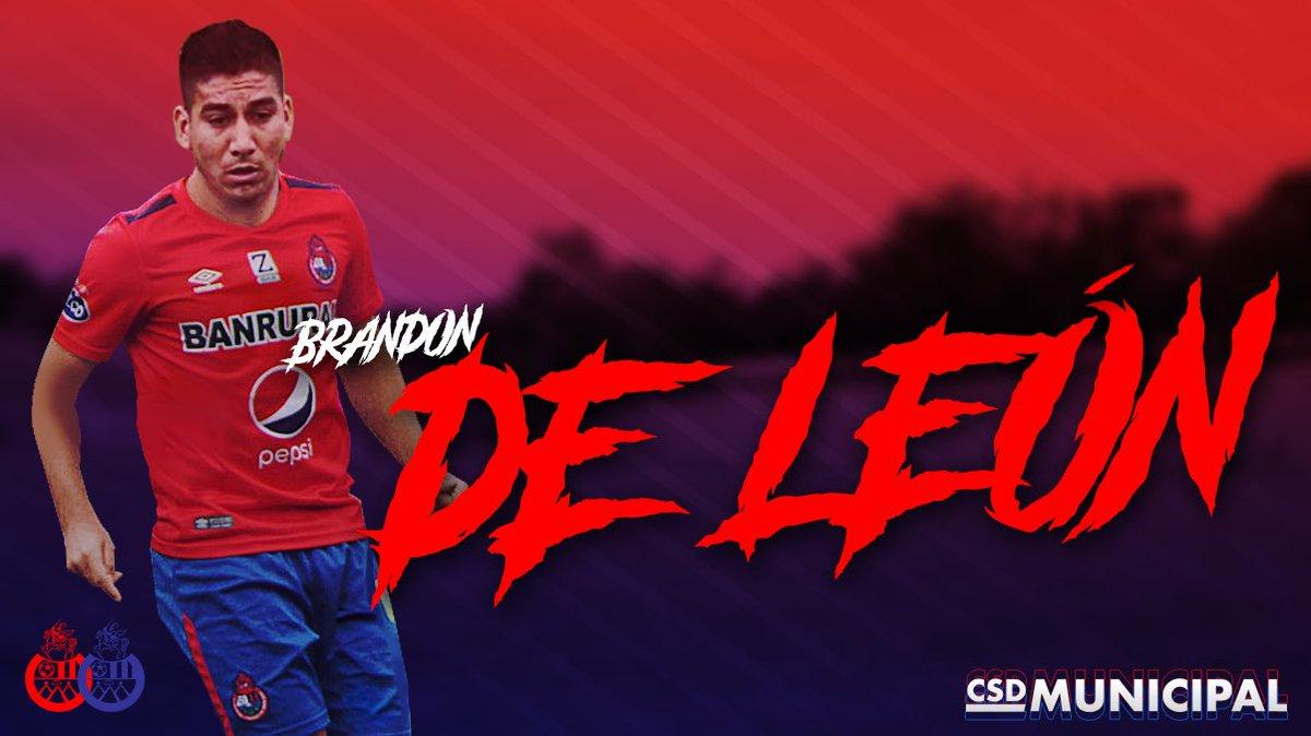 Brandon de León se une a Municipal para el Clausura 2019. (Foto Prensa Libre: CSD Municipal)