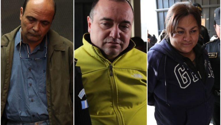 Dino Fabricio Quatrinni Gómez, Felipe Estuardo Ozaeta Castellanos y Ana Patricia Monge son tres de los ocho capturados por el caso de corrupción conocido como Blindados. (Foto: Estuardo Paredes)