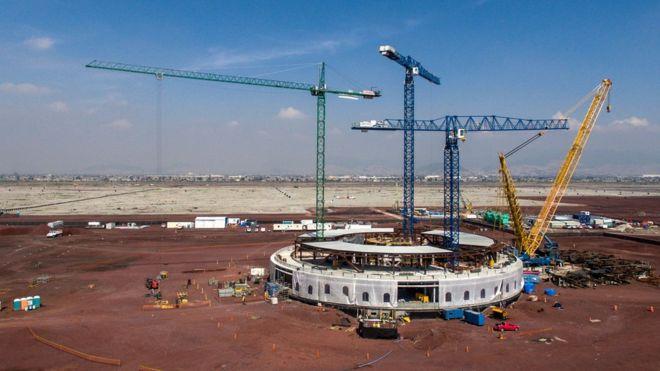 Según el equipo del presidente electo, se ha construido 20% del proyecto total. GETTY IMAGES