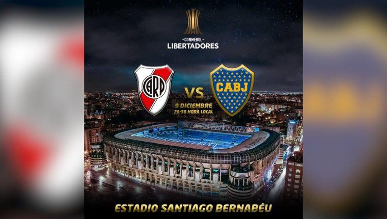 La prensa española asegura que el estadio Santiago Bernabéu será la sede del partido de vuelta de la final de la Copa Libertadores 2018. (Foto Prensa Libre: Hemeroteca PL)