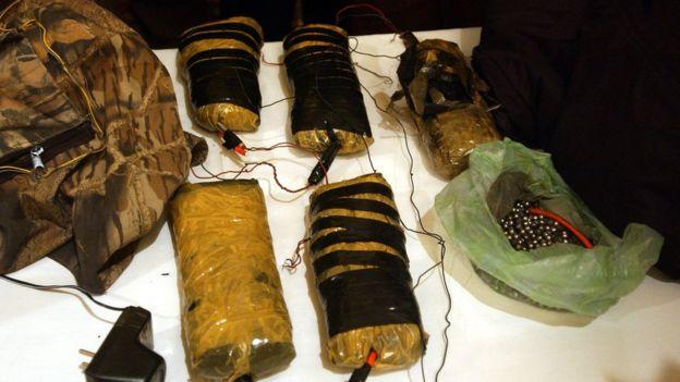 El C4 se ha usado en varios ataques terroristas. Estos 10 kilos fueron incautados en 2002 por las autoridades de Afganistán. (Scott Nelson/Getty Images)