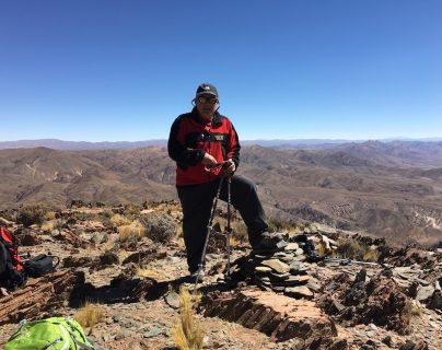 Previo a la expedición, Viñals junto a su equipo ascendió dos cerros importantes de la región de San Antonio de los Cobres, en el desierto de Atacama del norte Argentino. (Foto Prensa Libre: Cortesía Jaime Viñals)
