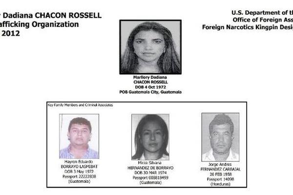 Estados Unidos declaró en enero del 2012, como narcotraficante a Marllory Dadiana Chacón Rossell. (Foto Prensa Libre: Archivo)