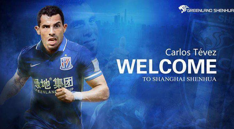 Carlos Tévez fue el fichaje del año para la Súper Liga de China al firmar un contrato con el Shanghai Shenhua. (Foto Prensa Libre: Shanghai Shenhua )