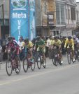Los ciclistas volverán a salir a escena este miércoles. (Foto Prensa Libre: Norvin Mendoza)