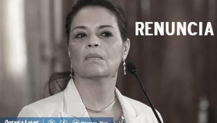 Roxana Baldetti renunció a la vicepresidencia ocho meses antes de terminar su gestión. (Foto Prensa Libre: Hemeroteca PL)