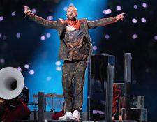Justin Timberlake puso a bailar a los asistentes del U.S. Bank Stadium, en Minneapolis, durante el intermedio del Super Bowl, aunque no llenó las expectativas. (Foto Prensa Libre, AFP).
