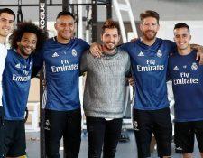 David Bisbal comparte con las principales figuras del Real Madrid. (Foto Prensa Libre: Cortesía @realmadrid).