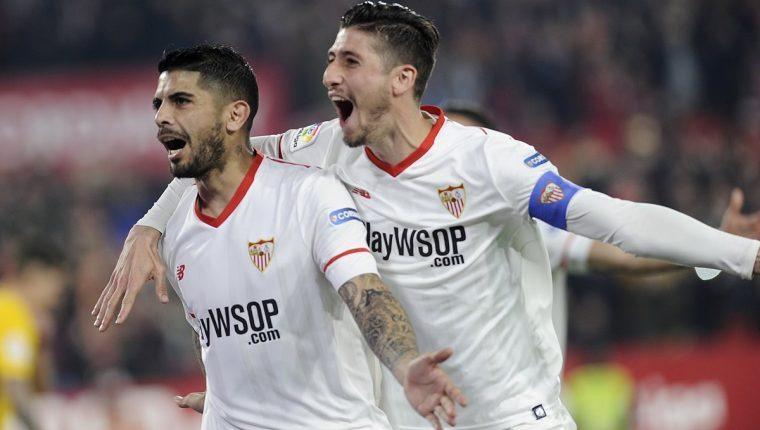 El Sevilla noquea al Atlético para meterse en 'semis' de la Copa del Rey. (Foto Prensa Libre: AFP)