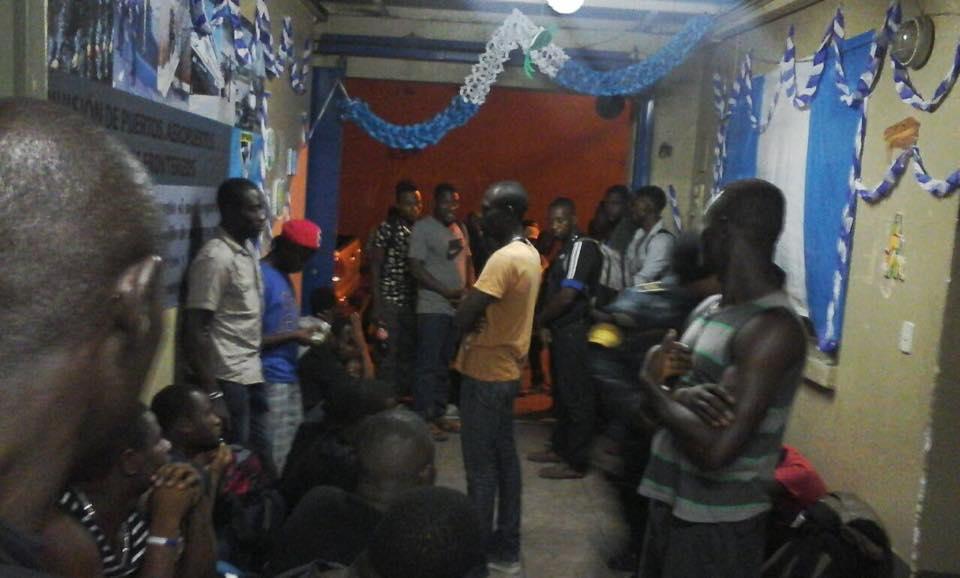 Los indocumentados africanos intentaban llegar a EE. UU. desde la República Democrática del Congo, en su mayoría. (Foto Prensa Libre: Mingob)