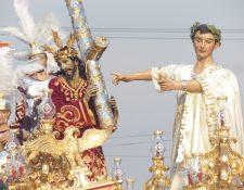 Representación de Poncio Pilatos en la procesión de Jesús Nazareno de Beatas de Belén. (Foto: Néstor Galicia)