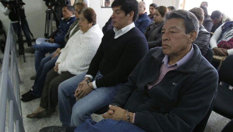 Audiencia de primera declaración contra cinco involucrados en compras fraccionadas en el Juzgado Octavo de Instancia Penal. (Foto Prensa Libre: Paulo Raquec)