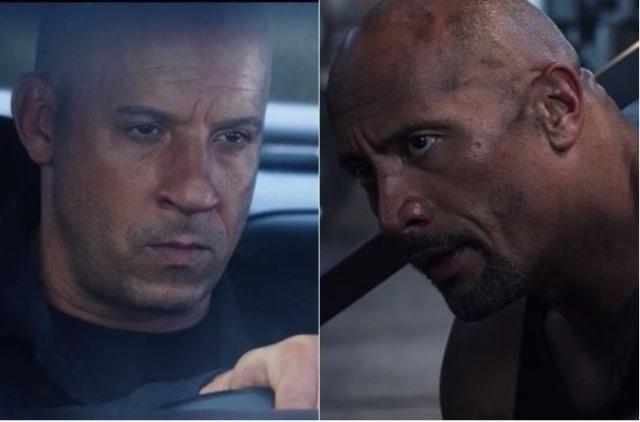 En 2016 comenzaron los rumores de conflictos entre Vin Diesel y Dwayne Johnson. (Foto Prensa Libre: Tomada de YouTube: Universal)