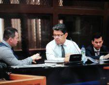 Raúl Osoy, durante la audiencia de primera declaración. (Foto Prensa Libre: Carlos Hernández)