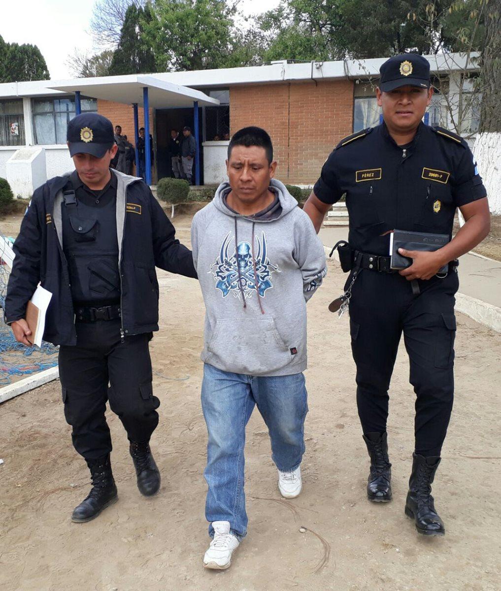 El reo Alonzo Pérez Méndez fue puesto a disposición de un juzgado, en Cantel, Quetzaltenango.