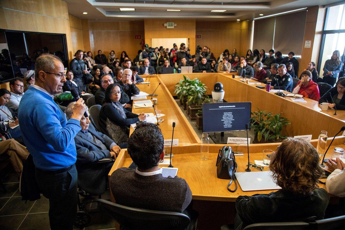 Conferencia en el Colegio de la Frontera Norte, autores del estudio, en la ciudad de Tijuana en Baja California, México. (Foto Prensa Libre: EFE)