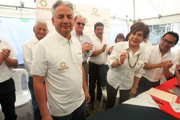 Empresario José Ángel López es presentado como precandidato del partido Encuentro por Guatemala. (Foto Prensa Libre: Esbin García)