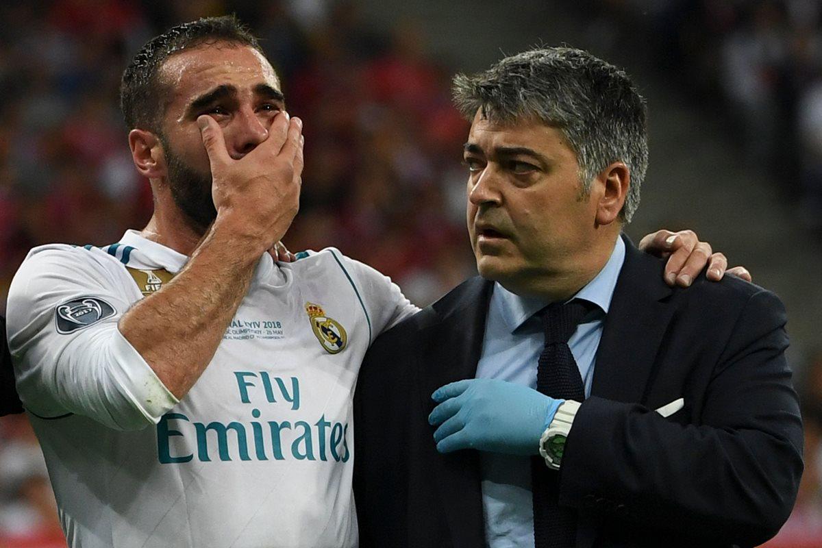 El mediocampista del Real Madrid, Dani Carvajal no ha sido descartado de la Selección de España. (Foto Prensa Libre: EFE)